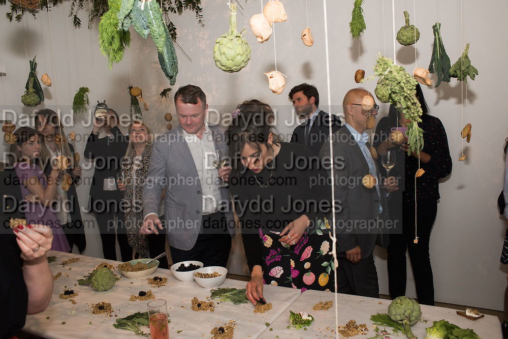 INES NETO DOS SANTOS, URBAN WILDERNESS 2018, IMMERSIVE FOOD INSTALLATION, Art Night Party, Phillips de Pury. 24 May 2018