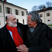 Carlo Petrin con Gianmaria Testa a Pollenzo in occasione del Graduation Day 2014 per celebrare i nuovi dottori in Scienze Gastronomiche