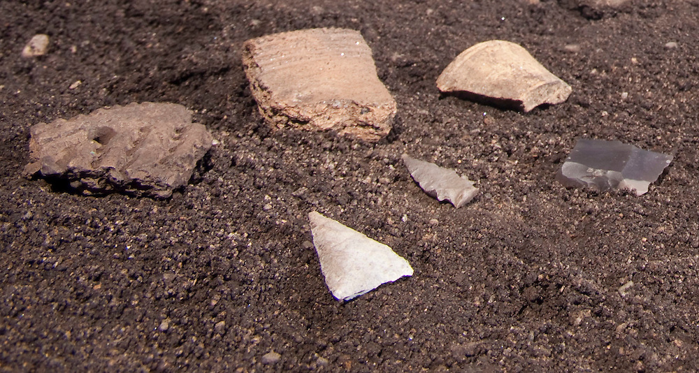 London, Ontario ---10-07-20--- Some of the artifacts unearthed at the site of an archeological dig at the mouth of the Saugeen River in Southampton, Ontario, July 20, 2010.<br /> GEOFF ROBINS The Globe and Mail