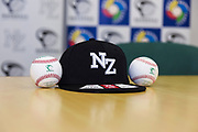 NZ Baseball cap and baseballs.<br /> Kyle Glogoski at the Philadelphia Phillies signing ceremony held at Lloyd Elsmore Park, Pakuranga, Auckland, New Zealand. 4 January 2018. &copy; Copyright Image: Marc Shannon / www.photosport.nz.