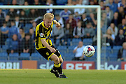 Burton Albion forward Mark Duffy keeps his eye on the ball as makes a long-ball pass during the Sky Bet League 1 match between Chesterfield and Burton Albion at the Proact stadium, Chesterfield, England on 26 September 2015. Photo by Aaron Lupton.