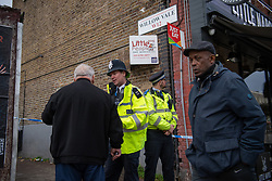 © Licensed to London News Pictures. 07/11/2018. White City, London, UK. Police seal off the scene of a serious assault in west London. A teenage boy became the latest victim in a spate of knife attacks across the capital. The boy was stabbed this afternoon on Willow Vale, off Uxbridge Road in White City. He is understood to be seriously ill in hospital after being found with life threatening injuries. Within two hours in a separate incident, a man was stabbed in Hackney, east London. Photo credit Guilhem Baker/LNP