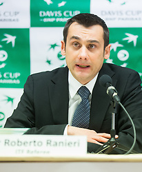Roberto Ranieri, ITF referee during draw ceremony of Davis cup - Slovenia vs Portugal on January 30, 2014 in City Hall Kranj, Slovenia. Photo by Vid Ponikvar / Sportida