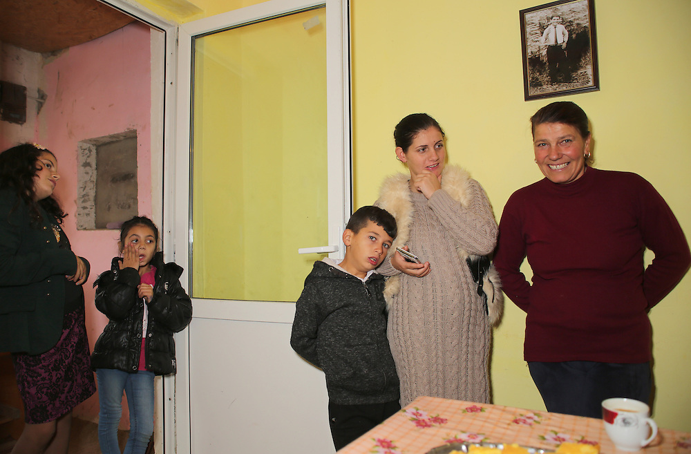 Razvan's aunt on the right, his sister Sinella, his nephew and two of his nieces.
