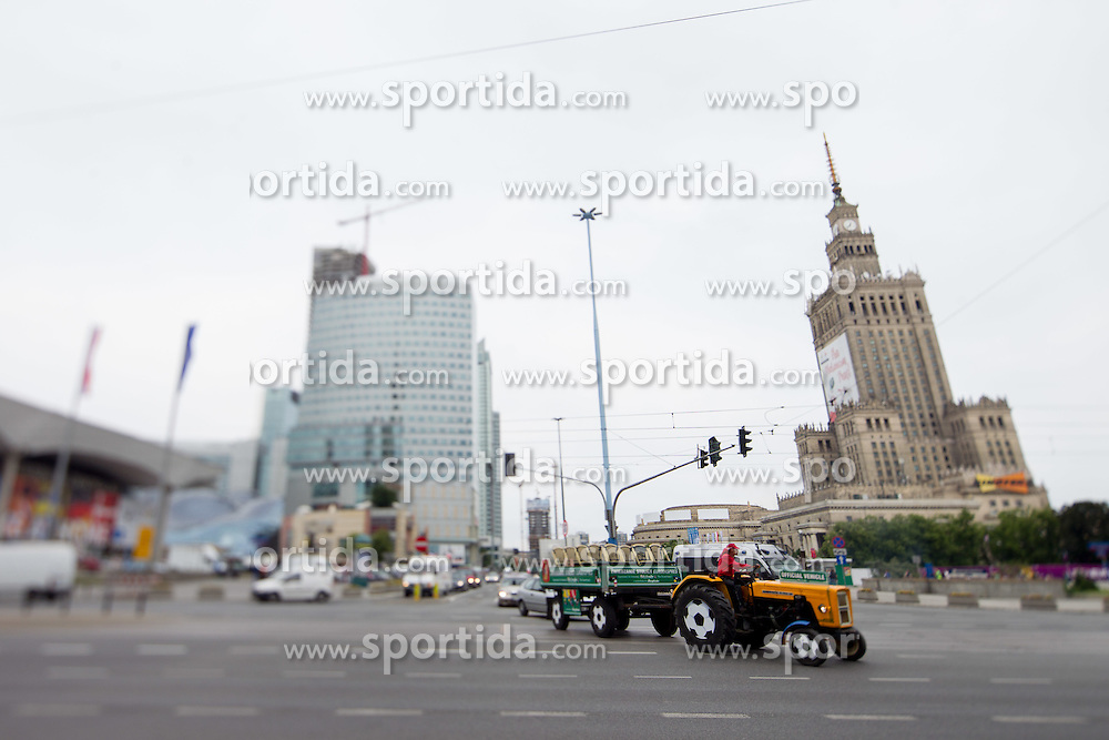 City centre during the UEFA EURO 2012 on June 9, 2012 in Warsaw, Poland.  (Photo by Vid Ponikvar / Sportida.com)