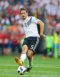 MOSCOW, RUSSIA - Sunday, June 17, 2018: Germany's Mats Hummels during the FIFA World Cup Russia 2018 Group F match between Germany and Mexico at the Luzhniki Stadium. (Pic by David Rawcliffe/Propaganda)