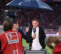 Fussball  1. Bundesliga  Saison 2018/2019  1. Spieltag  FC Bayern Muenchen - TSG 1899 Hoffenheim         24.08.2018 Trainer Julian Nagelsmann (TSG 1899 Hoffenheim) beim Eurosport Interview DFL regulations prohibit any use of photographs as image sequences and/or quasi-video.