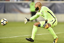 September 1, 2017 - Harrison, New Jersey, U.S - USMNT goalkeeper TIM HOWARD (1) watches as the ball flies past him towards goal during a World Cup Qualifier at Red Bull Arena in Harrison New Jersey Costa Rica defeats USA 2 to 0 (Credit Image: © Brooks Von Arx via ZUMA Wire)