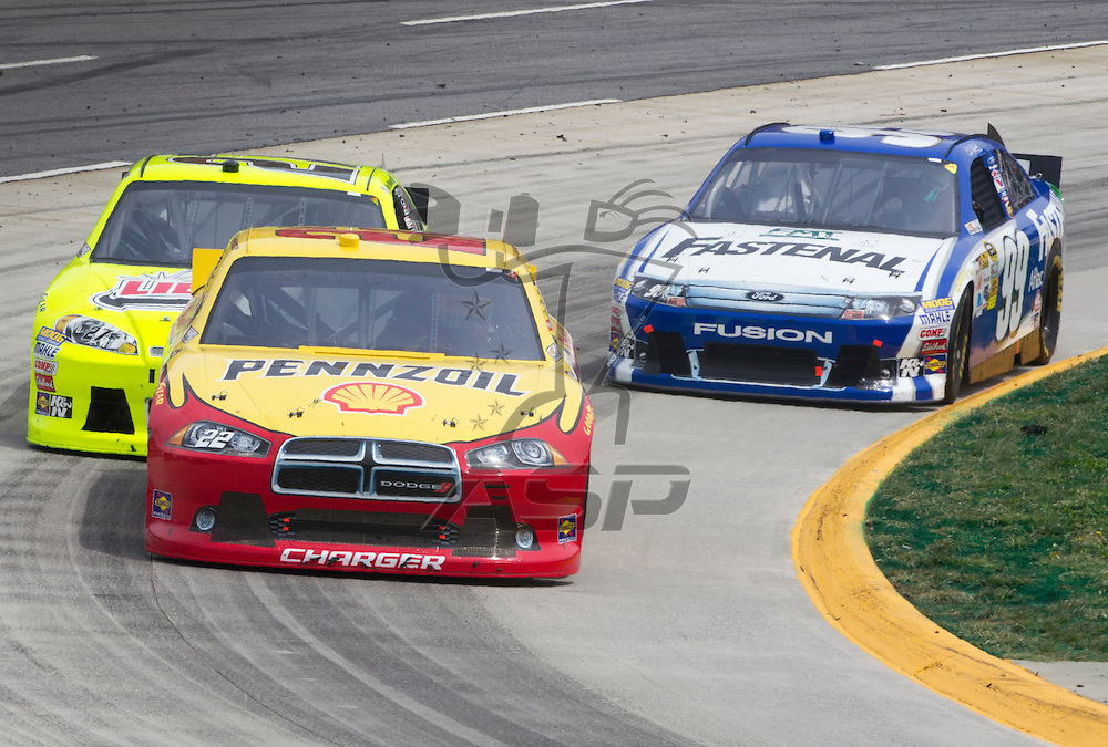 Martinsville, VA - MAR 01, 2012:  A.J. Almendinger (22) races for position during the Goody's Fast Relief 500 race at the Martinsville Speedway in Martinsville, VA.