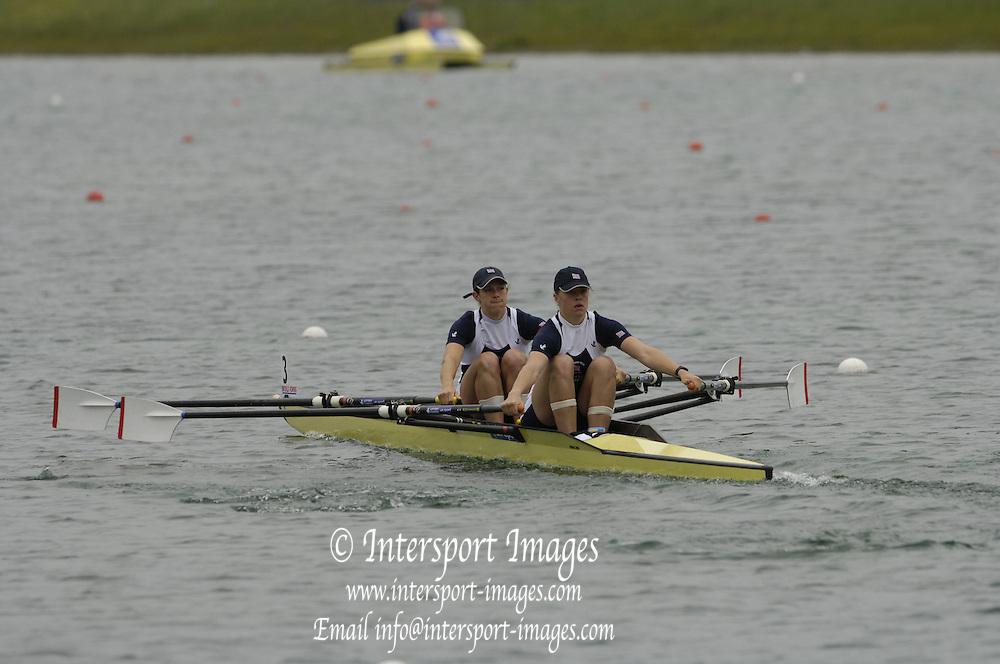 Munich, GERMANY, 2006, GBR W2X Bow Annie Vernon, Anna Bebington, FISA, Rowing, World Cup,  on the Olympic Regatta Course, Munich, Fri. 26.05.2006. © Peter Spurrier/Intersport-images.com,  / Mobile +44 [0] 7973 819 551 / email images@intersport-images.com.[Mandatory Credit, Peter Spurier/ Intersport Images] Rowing Course, Olympic Regatta Rowing Course, Munich, GERMANY