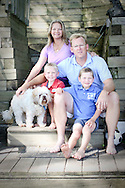 The Duprey family portraits in Linden, Michigan at their house on Byram Lake.
