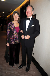 MR & MRS MICHAEL BUERK at the 2008 Costa Book Awards held at the Intercontinental Hotel, Hamilton Place, London on 27th January 2009.