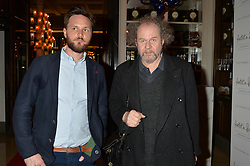 Left to right, DAVID PETCH and MIKE FIGGIS at a screening of 2 short films as part of the Corinthia Hotel's Artist in Residence held at The Corinthia Hotel, Northumberland Avenue, London on 12th May 2014.