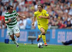 Luka Modric.Tottenham Hotspur 2009/10.Paul McGowan Celtic.Tottenham Hotspur V Celtic (0-2) 26/07/09.The Wembley Cup at Wembley Stadium.