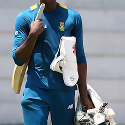 Durban South Africa - December 23,  Kagiso Rabada during the South African training session at Sahara Stadium Kingsmead, 23 December 2015. (Photo by Steve Haag) images for social media must have consent from Steve Haag
