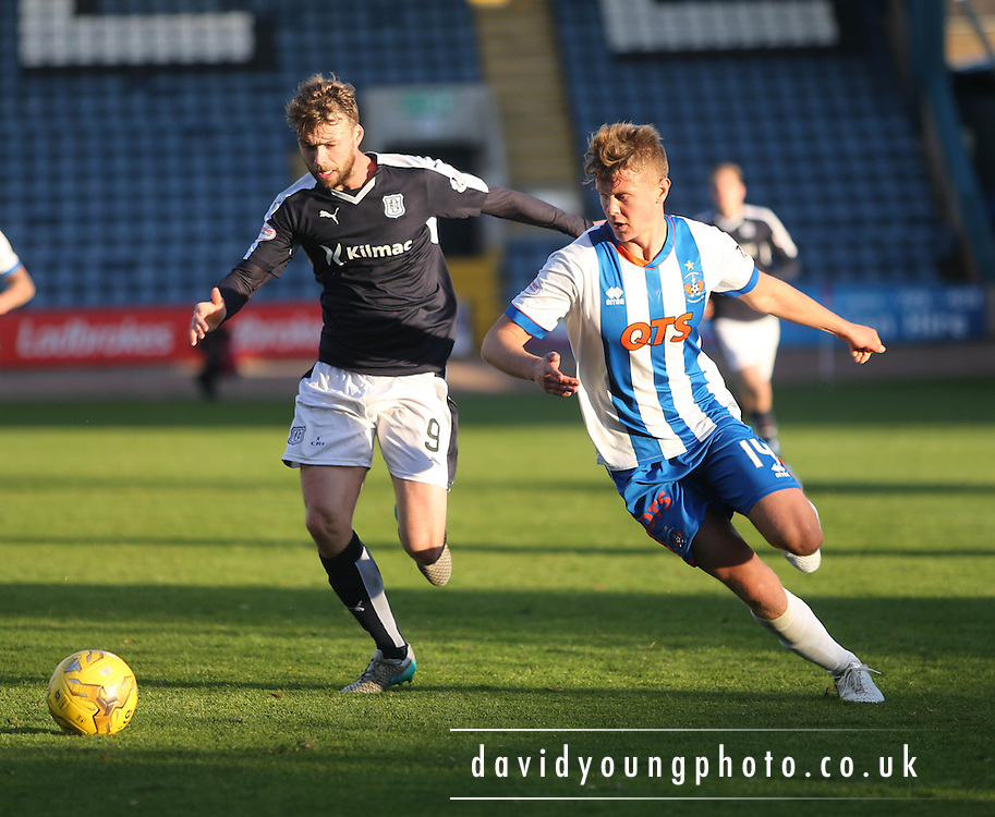 Dundee&rsquo;s Rory Loy and Kilmarnock&rsquo;s Mark O'Hara - Dundee v Kilmarnock, Ladbrokes Premiership at Dens Park <br /> <br />  - &copy; David Young - www.davidyoungphoto.co.uk - email: davidyoungphoto@gmail.com