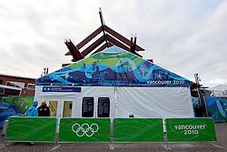 Olympic Winter Games Vancouver 2010 - Olympische Winter Spiele Vancouver 2010, Press Centre Whistler, Pressezentrum in Whistler, media, Medien, press, Presse, Raum, Presseraum, Journalisten,  Photo by Malte Christians / HOCH ZWEI / SPORTIDA.com.