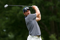 August 12, 2017 - Charlotte, North Carolina, United States - Ryan Fox tees off the 18th hole during the third round of the 99th PGA Championship at Quail Hollow Club. (Credit Image: © Debby Wong via ZUMA Wire)