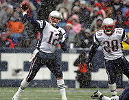 Tom Brady in the snow, New England Patriots @ Buffalo Bills, 11 Dec 05, 1pm, Ralph Wilson Stadium, Orchard Park, NY