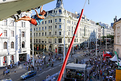 31.07.2015, Mariahilfer Straße, Wien, AUT, ISFC, Free Solo Masters MAHÜ, Vorqualifikation, im Bild Martin Sobotka // during the prequalification of the ISFC Free Solo Masters MAHÜ at the Mariahilfer Straße in Vienna, Austria on 2015/07/31. EXPA Pictures © 2015, PhotoCredit: EXPA/ Sebastian Pucher