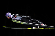 Poland, Wisla Malinka - 2017 November 18: Andreas Wellinger from Germany soars in the air during FIS Ski Jumping World Cup Wisla 2017/2018 - Day 1 at jumping hill of Adam Malysz on November 18, 2017 in Wisla Malinka, Poland.<br /> <br /> Mandatory credit:<br /> Photo by &copy; Adam Nurkiewicz<br /> <br /> Adam Nurkiewicz declares that he has no rights to the image of people at the photographs of his authorship.<br /> <br /> Picture also available in RAW (NEF) or TIFF format on special request.<br /> <br /> Any editorial, commercial or promotional use requires written permission from the author of image.