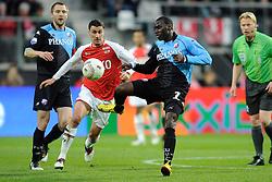 03-04-2010 VOETBAL: AZ - FC UTRECHT: ALKMAAR<br /> FC utrecht verliest met 2-0 van AZ / Michael Silberbauer, Maarten Martens en Loic Loval<br /> ©2009-WWW.FOTOHOOGENDOORN.NL