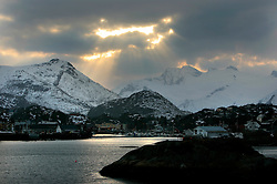 NORWAY LOFOTEN 28MAR07 - View into the town of Solvaer on the Lofoten islands...jre/Photo by Jiri Rezac..© Jiri Rezac 2007..Contact: +44 (0) 7050 110 417.Mobile:  +44 (0) 7801 337 683.Office:  +44 (0) 20 8968 9635..Email:   jiri@jirirezac.com.Web:    www.jirirezac.com..© All images Jiri Rezac 2007 - All rights reserved.