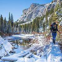Noelle Synder Hiking to Alice Lake in the Sawtooth National Forest near Stanley Idaho