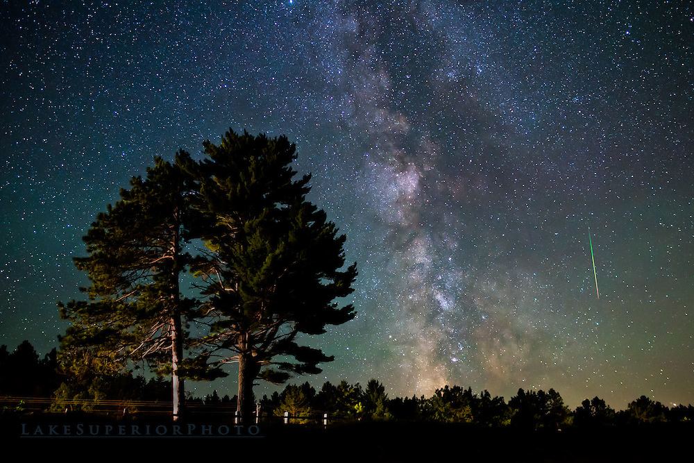 Limited Edition, Fine Art, Luxury photography, Milky Way, Perseid, White Pine, Northland, Camp art, Cottage art, Northwoods