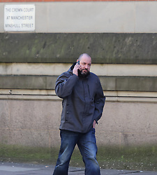 Manchester UK 20.12.2017: Jonathan Woods from Oldham leaves Minshull Street Crown Court after being sentenced for a sustained assault on his partner<br /> <br /> Copy available