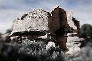Cutthroat Castle Ruin, a structure built by Ancestral Puebloan Peoples between A.D.1200 and 1300 on the border of present day Utah and Colorado in Hovenweep National Monument.