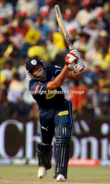 Deccan Chargers Batsman Andrew Symonds Hit The Shot Against Delhi Daredevils During The Indian Premier League - 15th match Twenty20 match 2009/10 season Played at Barabati Stadium, Cuttack 21 March 2010 - day/night (20-over match)