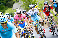 Alberto Contador / Fabio Aru - Tinkoff Saxo - 24.05.2015 - Tour d'Italie - Etape 15 - Marostica / Madonna di Campiglio<br />Photo : Pool / Sirotti / Icon Sport