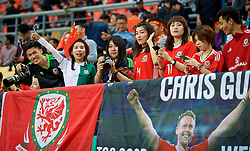 NANNING, CHINA - Thursday, March 22, 2018: Wales' supporters before the opening match of the 2018 Gree China Cup International Football Championship between China and Wales at the Guangxi Sports Centre. (Pic by David Rawcliffe/Propaganda)