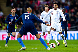 Jesse Lingard of England takes on John Brooks of USA - Mandatory by-line: Robbie Stephenson/JMP - 15/11/2018 - FOOTBALL - Wembley Stadium - London, England - England v United States of America - International Friendly