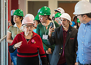 Bertie Simmons and members of the Project Advisory Team tour construction at Furr High School, April 6, 2017.