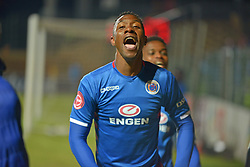 The ABSA Premiership match that took place at the Bidvest Wits stadium on Saturday night between Bidvest  Wits F.C.  and Supersport United. SS Untd goal scorer Evans Rusike 19 <br /> Picture: Timothy Bernard African News Agency/ANA