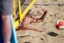 23-08-2019 NED; DELA NK Beach Volleyball Qualification, Scheveningen<br /> First day NK Beachvolleyball / Yara van de Ven
