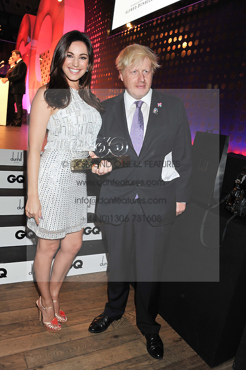 BORIS JOHNSON winner of the GQ Politcian of The Year Award and KELLY BROOK who presented the award at the GQ Men of The Year Awards 2012 held at The Royal Opera House, London on 4th September 2012.