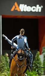 Rikke Laumann, (DEN), Ghost Alfarvad Z, Lasse Kristensen - Individuals Women Compulsory Vaulting - Alltech FEI World Equestrian Games™ 2014 - Normandy, France.<br /> © Hippo Foto Team - Jon Stroud<br /> 02/09/2014