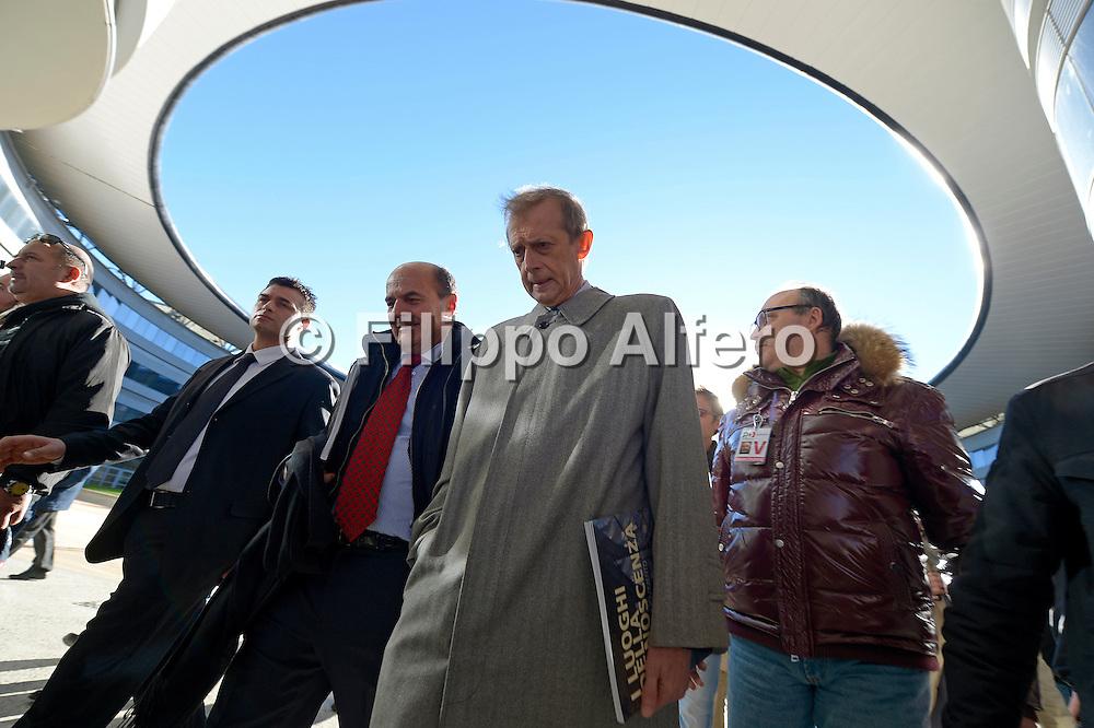© Filippo Alfero<br /> Pierluigi Bersani visita il nuovo Campus Universitario Einaudi di Torino<br /> Torino, 05/11/2012<br /> politica<br /> Nella foto: Pierluigi Bersani e Piero Fassino