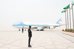 Air Force One arrives on Saturday, May 20, 2017, at King Khalid International Airport in Riyadh, Saudi Arabia. (Official White House Photo by Andrea Hanks)