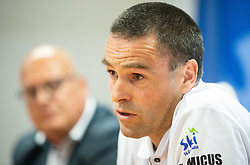 Janez Slivnik during press conference of Slovenian Alpine Ski team and coaching team for new season 2019/20, on May 6th, 2019, in SZS, Ljubljana, Slovenia. Photo by Vid Ponikvar / Sportida