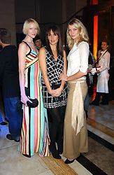Left to right, model, JADE PARFITT, model SAFFRON ALDRIDGE and model JODIE KIDD at the 2005 Lancome Colour Design Awards in association with CLIC Sargent Cancer Care for Children held at the Freemasons' Hall, Great Queen Street, London on 23rd November 2005.<br />