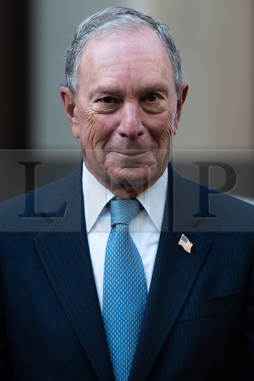 © Licensed to London News Pictures. 11/12/2018. London, UK. Michael R. Bloomberg UN Special Envoy for Climate Action and Founder of Bloomberg LP and Bloomberg Philanthropies launch Ice Watch display blocks of melting glacier ice across two public sites in the centre of London to create a major artwork. Photo credit: Ray Tang/LNP