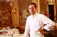 Bernard PACAUD and Matthieu , his son<br /> <br /> Bernard Pacaud is the chef and owner of l'Ambroisie, the three star (Michelin) restaurant in the Place des Vosges, ParisMathieu PACAUD, chef and son of Bernard Pacaud <br /> <br /> Bernard Pacaud is the chef and owner of l'Ambroisie, the three star (Michelin) restaurant in the Place des Vosges, Paris