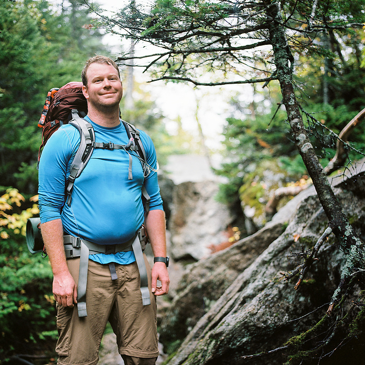 Kevin in the middle of the Mahoosuc Notch - the hardest mile on the Appalachian Trail