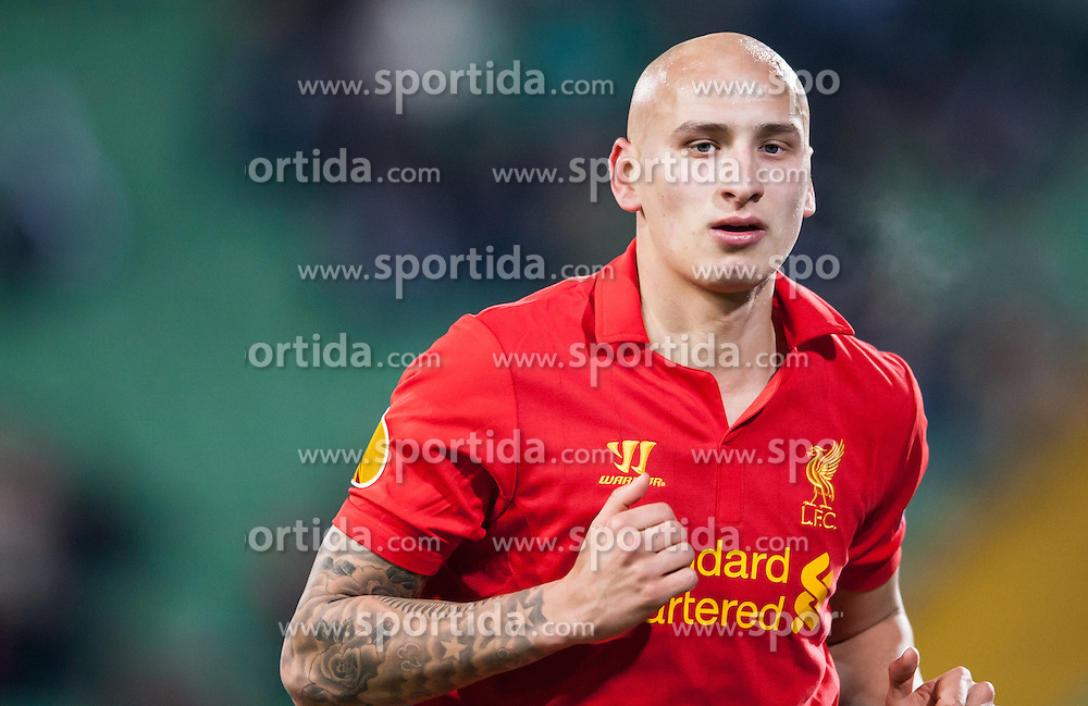 06.12.2012, Stadio Friuli, Udine, ITA, UEFA EL, Udinese Calcio vs FC Liverpool, Gruppe A, im Bild Jonjo Shelvey (# 33, Liverpool FC) // during the UEFA Europa League group A match between Udinese Calcio and Liverpool FC at the Stadio Friuli, Udinese, Italy on 2012/12/06. EXPA Pictures © 2012, PhotoCredit: EXPA/ Juergen Feichter