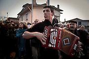 Sardegna, Italy. 16 gennaio. Sardegna, Italy. Mamoiada (NU). Festa di Sant'Antonio abate. Prima uscita dei Mamutones e Issohadores