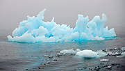 Blue iceberg at 81 degrees north, off Spitsbergen, Svalbard.